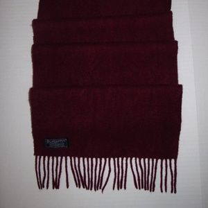 BURBERRYS London Solid Burgundy Red Cashmere Scarf